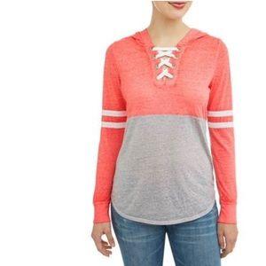 -NWT-Long Sleeve Hooded Shirt